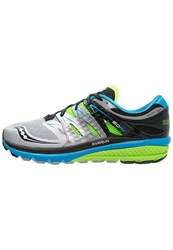 Saucony Zealot Iso 2 Cushioned Running Shoes Blue Slime Silver