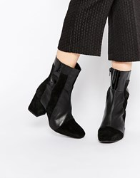Warehouse Patchwork Boot Black
