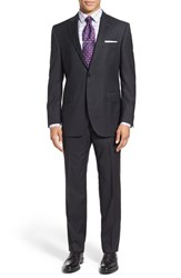 Peter Millar Men's Big And Tall 'Flynn' Classic Fit Solid Wool Suit Charcoal