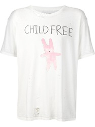 Enfants Riches Deprimes Child Free Print Distressed T Shirt White