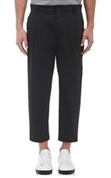 Helmut Lang Men's Seersucker Crop Trousers Black
