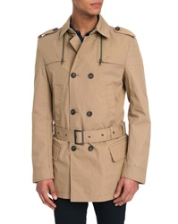 Ikks Beige Wind Proof Double Breasted Trench