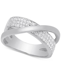 Victoria Townsend Diamond Crossover Ring 1 4 Ct. T.W. In Sterling Silver