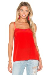 Animale Lace Tank In Red