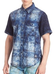 Prps Cloud Dyed Plaid Shirt Blue