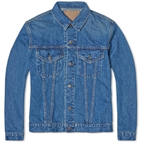 Orslow Pleated Front Type Iii Denim Jacket One Wash