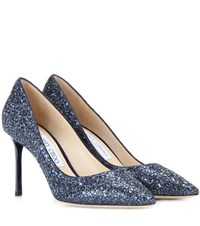 Jimmy Choo Romy 85 Glitter Pumps Blue