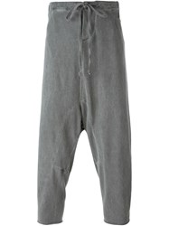 Lost And Found Rooms Cropped Drop Crotch Trousers Grey