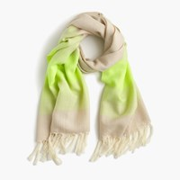 J.Crew Faded Stripe Scarf Ivory Yellow