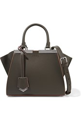 Fendi 3Jours Small Leather Tote Anthracite