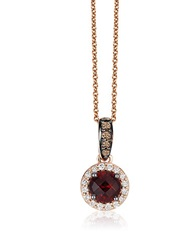 Levian 14K Gold Rhodolite And Diamond Pendant Necklace Red