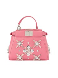 Fendi 'Peekaboo' Tote Pink And Purple