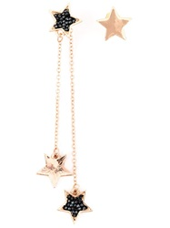 Luxury Fashion Dropped Star Earrings Black