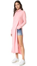 Sjyp Maxi Turtleneck Knit Dress Pink