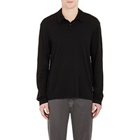 James Perse Jersey Polo Shirt Black