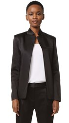 Alexander Wang Satin Open Blazer Black