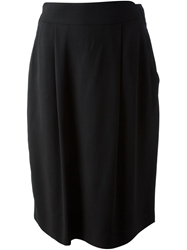 Giorgio Armani Vintage Pleated Skirt Black