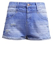 Evenandodd Denim Shorts Blue Light Blue