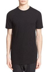 Men's Drifter 'Pompeii' Burnout Knit T Shirt Black