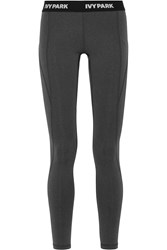 Ivy Park Low Rise Stretch Jersey Leggings Charcoal