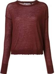Helmut Lang Raw Edge Jumper Red