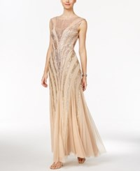 Adrianna Papell Sequin Mermaid Gown Champagne