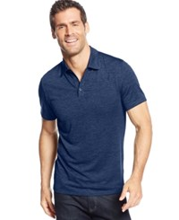 Alfani Big And Tall Ethan Performance Polo Hyper Blue