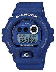 G Shock Baby G Blue Heathered Stainless Steel And Resin Strap Digital Watch