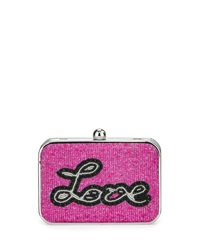 Franchi Love Sequin Box Clutch Bag