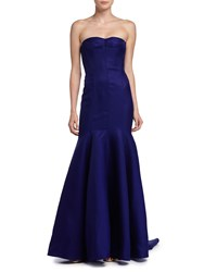 J. Mendel Strapless Mermaid Gown Imperial Blue