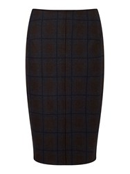 Jigsaw Knitted Milano Check Skirt Charcoal