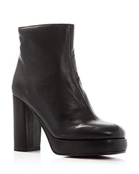 See By Chloe Chunky High Heel Platform Booties Black