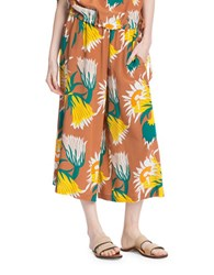 Tracy Reese Silk Culotte Pants Yellow