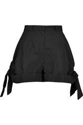 Carven Ruched Shell Shorts Black