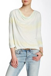 Nine West Jeans Charlene Cowl Neck Knit Tee Yellow