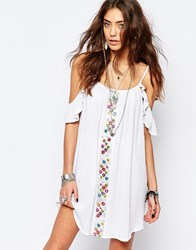 Kiss The Sky Festival Dress With Mirror Embelishment And Frill Sleeves Counting Strars Dres