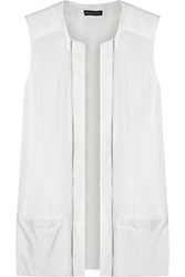Balmain Pierre Sleeveless Voile Top White
