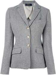 Polo Ralph Lauren Three Button Fitted Jacket Grey