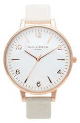 Women's Olivia Burton 'Modern Vintage' Leather Strap Watch 38Mm