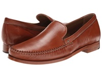 Trask Seth Cognac Sheepskin Men's Slip On Dress Shoes Mahogany