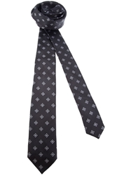 Dolce And Gabbana Contrast Print Tie Black