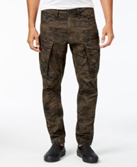 G Star Raw Men's Rovic 3D Tapered Camouflage Cargo Pants Grey