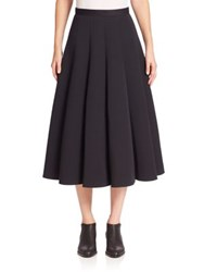 Junya Watanabe Pleated Full Maxi Skirt Black