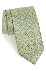 J.Z. Richards Men's Medallion Silk Tie Green