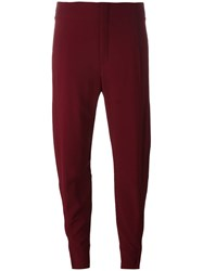 Chloe Cropped Trousers Red