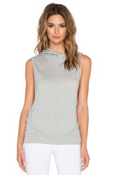 Beyond Yoga French Terry Sleeveless Hoodie Gray