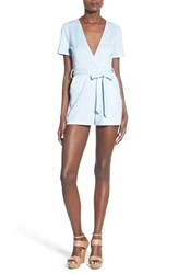Women's Missguided Plunge Faux Suede Romper