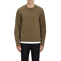 James Perse Men's Long Raglan Sleeve T Shirt Dark Green