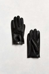 Urban Outfitters Faux Leather Driving Glove Black