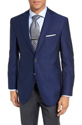 David Donahue Men's Big And Tall 'Connor' Classic Fit Wool Blazer Navy